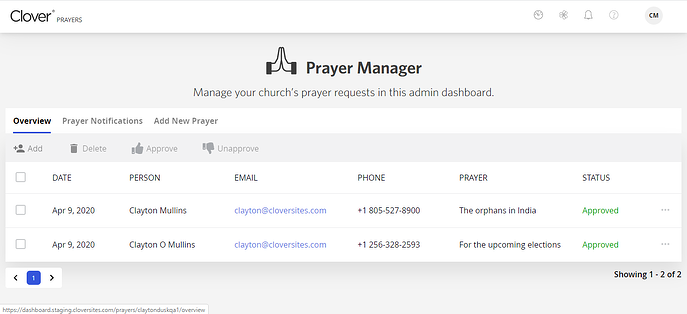 prayermanager